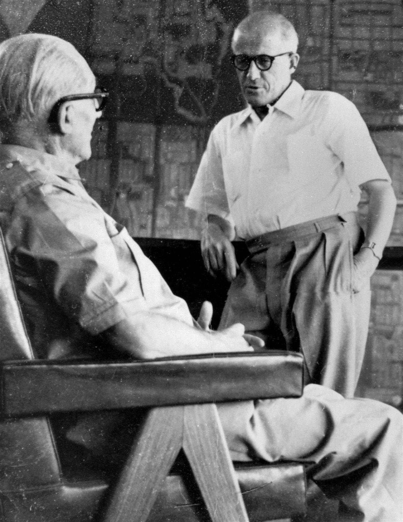 Retrato de Le Corbusier y Pierre Jeanneret.
