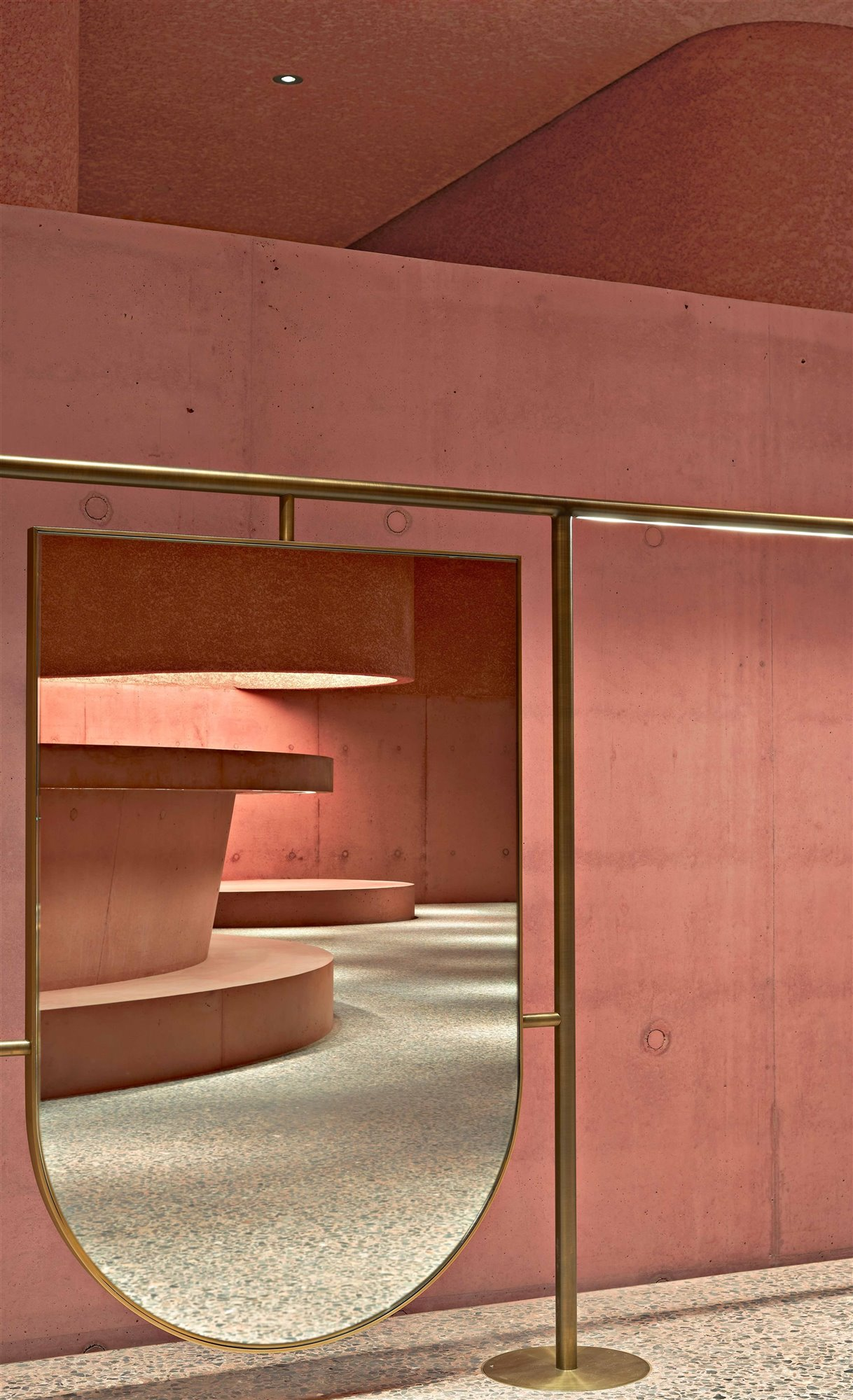 espejo interior tienda the webster en Los Angeles Adjaye Associates