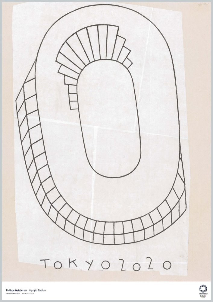 Olympic Stadium del ilustrador Philippe Weisbecker