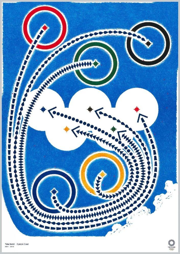 Posters Olimpiadas de Tokio 2020 Taku Satoh