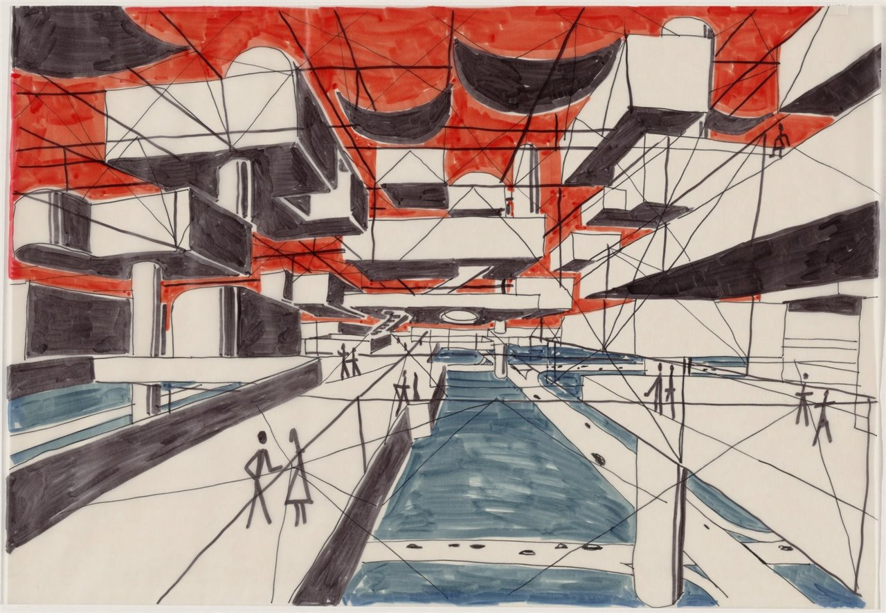 Spatial City Project (Perspective) 1958-59