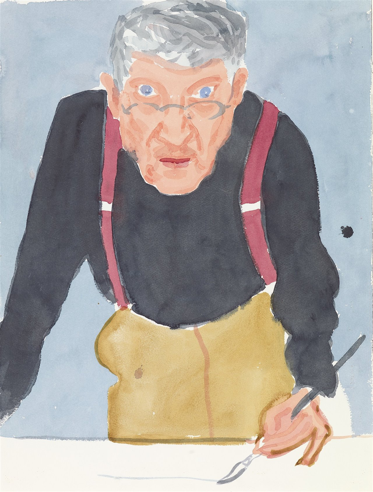 Self Portrait with Red Braces, 2003