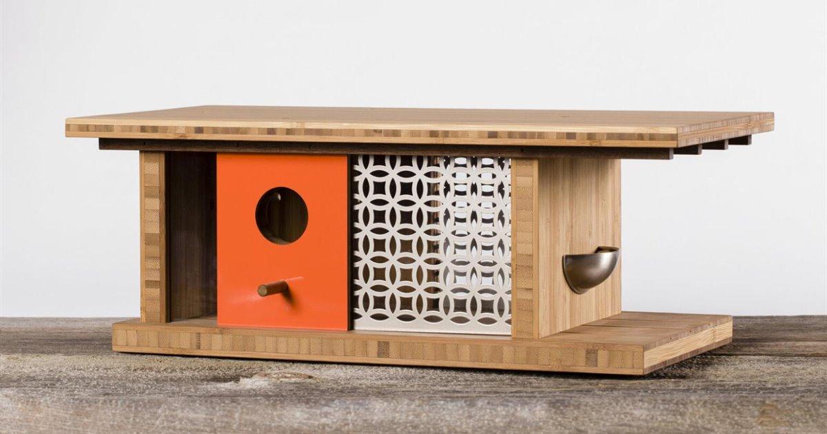 Sí, estas casitas de diseño para pájaros habrían encandilado al mismísimo Frank Lloyd Wright