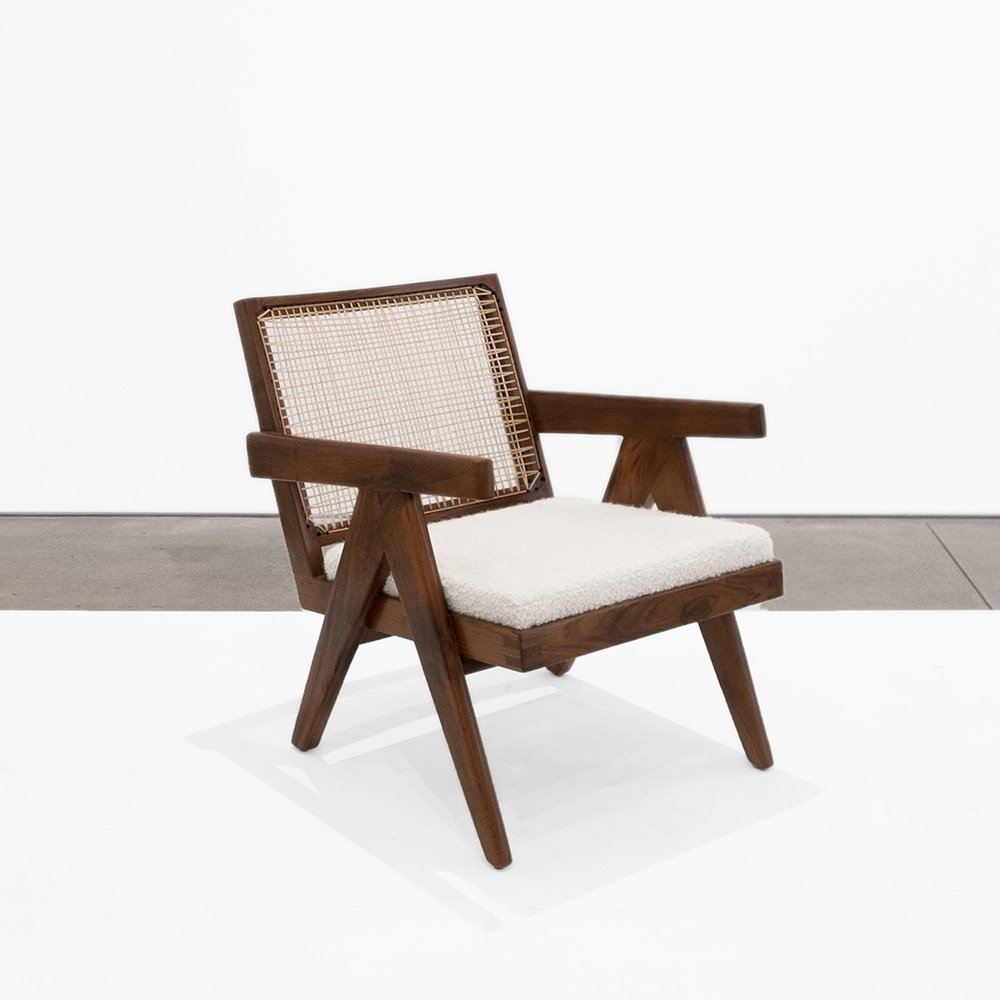 design miami Low Lounge Chair by Pierre Jeanneret at Peter Blake Gallery