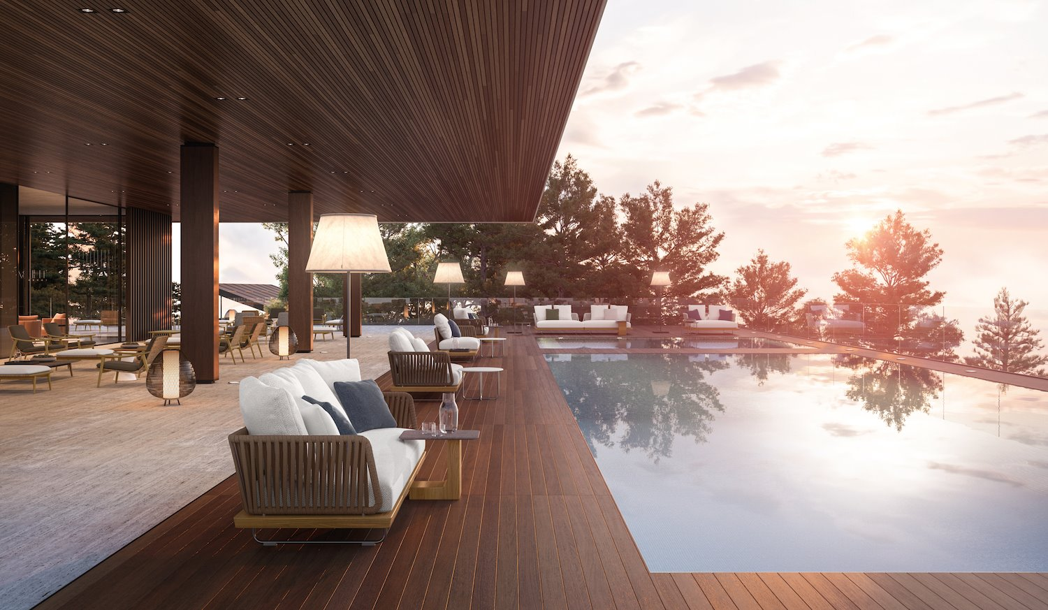 resort virtual the club by Minotti
