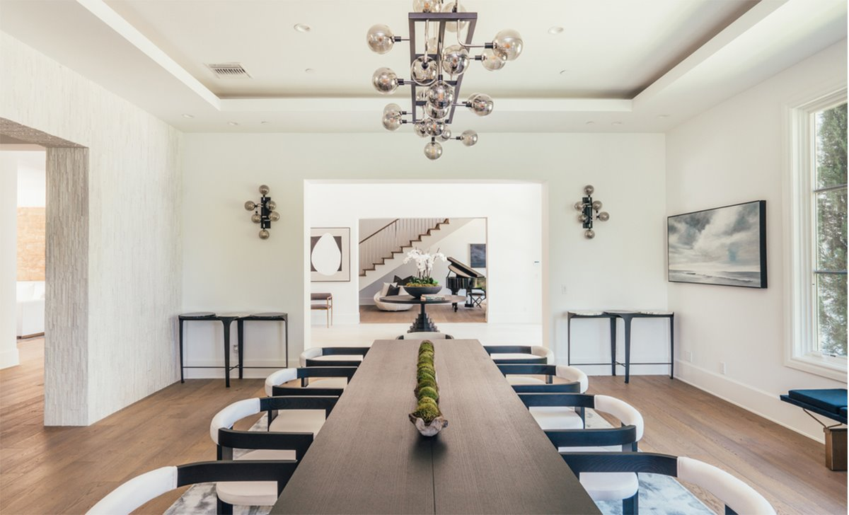 Comedor la mansion del cantante The Weeknd Abel Tesfaye