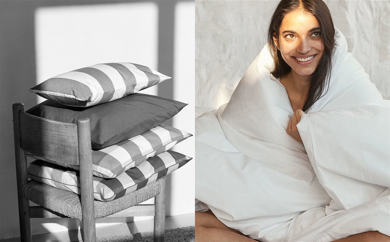 La primera colección de ropa de casa de Mango será sostenible e inspirada en el Mediterráneo.