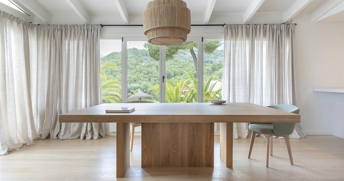 El chic rústico combina con los toques modernos en esta casa en Mallorca