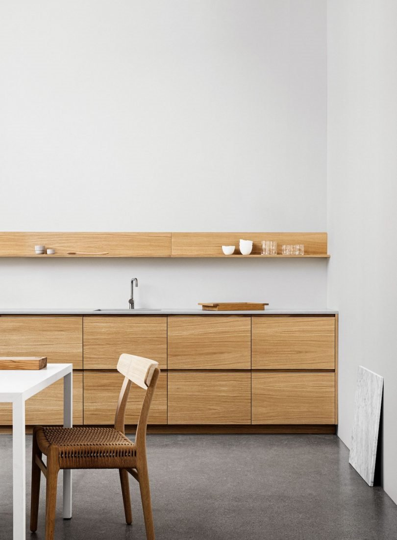 cocina muebles madera  profile normarchitects